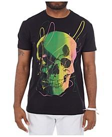 3D Graphic Paint Spatter Skull T-Shirt