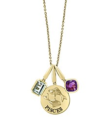 EFFY Zodiac Multi Gemstone (1 1/2 ct. t.w.) Pisces Pendant in 14k Yellow Gold