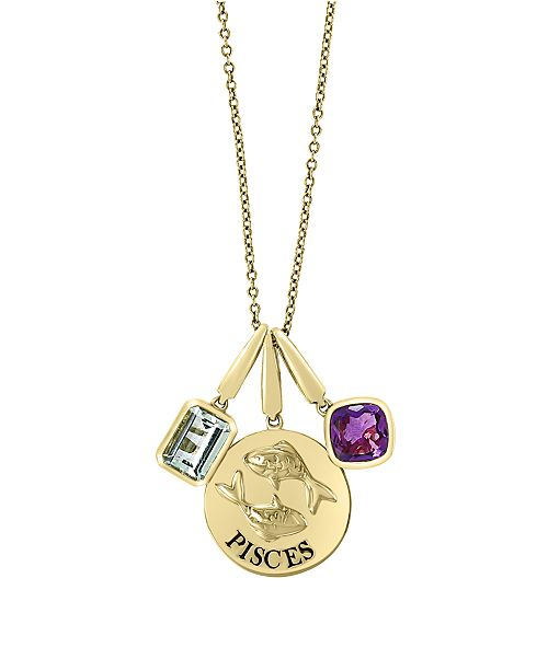 EFFY Collection EFFY Zodiac Multi Gemstone (1 1/2 ct. t.w.) Pendant in 14k Yellow Gold