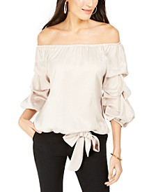 Petite Puff-Sleeve Blouse