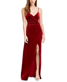 Juniors' Velvet Slip Dress