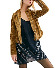 Dusk Till Dawn Cropped Velvet Jacket