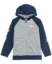 Big Boys Avengers Hero Heads Colorblocked Full-Zip Hoodie