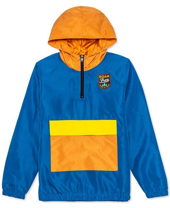 Jem Big Boys Roam Free Colorblocked 1/4-Zip Hooded Anorak