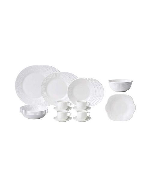 Wedgwood Nantucket Basket 26-Piece Dinnerware Set, Service for 4
