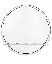 Silvio C Round Wall Mirror with Hooks