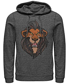 Men's Lion King Scar Geometric Pattern Fill Portrait, Pullover Hoodie