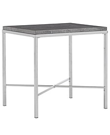 Gabriele End Table with Faux Marble Top