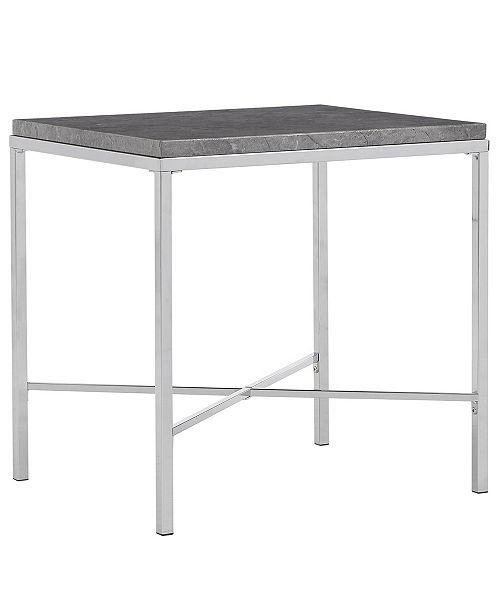 iNSPIRE Q Gabriele End Table with Faux Marble Top
