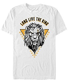 Men's The Lion King Live Action Scar Long Live the King, Short Sleeve T-Shirt