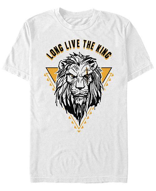 Disney Men's The Lion King Live Action Scar Long Live the King, Short Sleeve T-Shirt