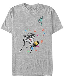 Men's Pocahontas Meeko Flit Colorful Leafs Fall, Short Sleeve T-Shirt