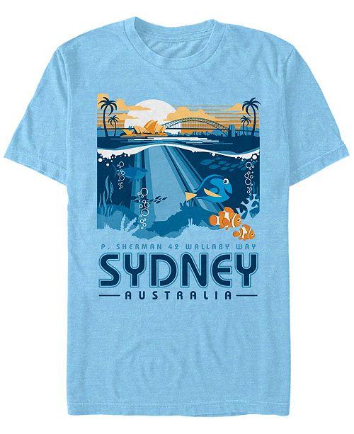 Disney Pixar Men's Finding Nemo Wallaby Way Travel, Short Sleeve T-Shirt