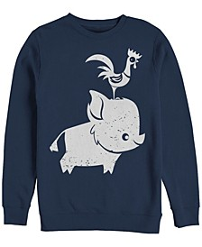 Men's Moana Cute Pua and Hei Hei, Crewneck Fleece
