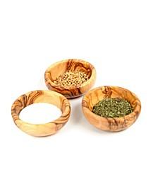 Wooden Spice Bowls, Set of 3 Mini Bowls