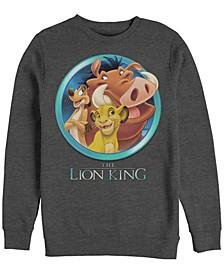 Men's Lion King Best Friends, Crewneck Fleece