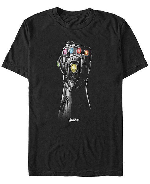 Marvel Men's Avengers Endgame Grayscale Gauntlet, Short Sleeve T-shirt