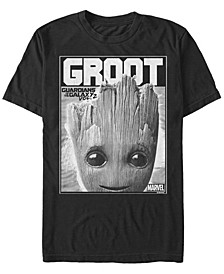 Men's Guardian of the Galaxy Groot Poster, Short Sleeve T-shirt