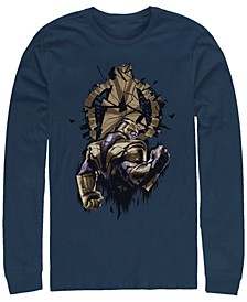 Men's Avengers Endgame Thanos Broken Logo, Long Sleeve T-shirt