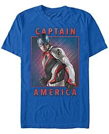 Men's Avengers Endgame Captain America Portrait, Short Sleeve T-shirt