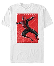 Men's Spider-Man Far From Home Web Swinging Spider Poster, Short Sleeve T-shirt