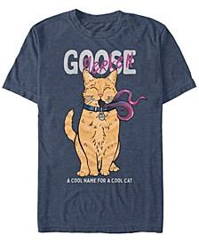 Men's Captain Marvel Goose Flerken Cool Cat Name, Short Sleeve T-shirt