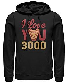 Men's Avengers Endgame I Love You 300 Arc Reactor, Pullover Hoodie