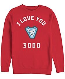 Men's Avengers Endgame Core Reactor I Love You 3000, Crewneck Fleece