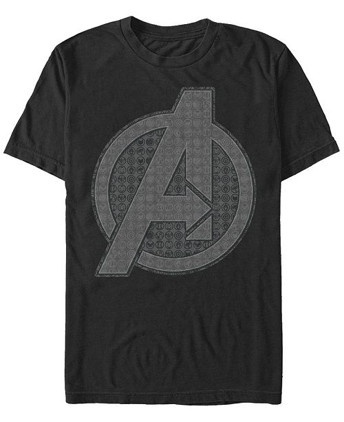 Marvel Men's Avengers Endgame Grayscale Icons Logo, Short Sleeve T-shirt