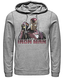 Men's Avengers Endgame I Am Iron Man Gauntlet, Pullover Hoodie