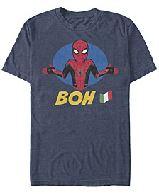 Men's Spider-Man Far From Home Boh Spidey Shrug, Short Sleeve T-shirt