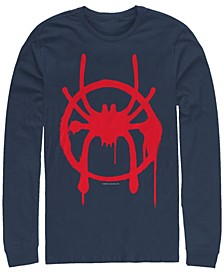 Men's Spider-Man Into the Spider-Verse Miles Morales Chest Logo, Long Sleeve T-shirt