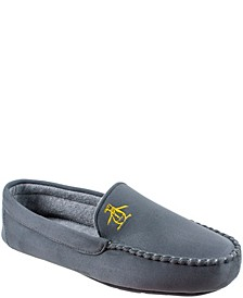 Men's Microsuede Venetian Moccasin Slippers with Memory Foam