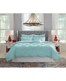 Pointehaven Knotted Pintuck Queen Comforter Set