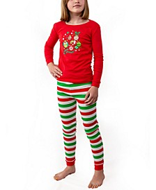 Matching Girls The Grinch Two Piece Pajamas, Online Only