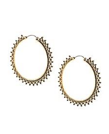 """Large Crown Design Hoop Earring 2.64"""""""