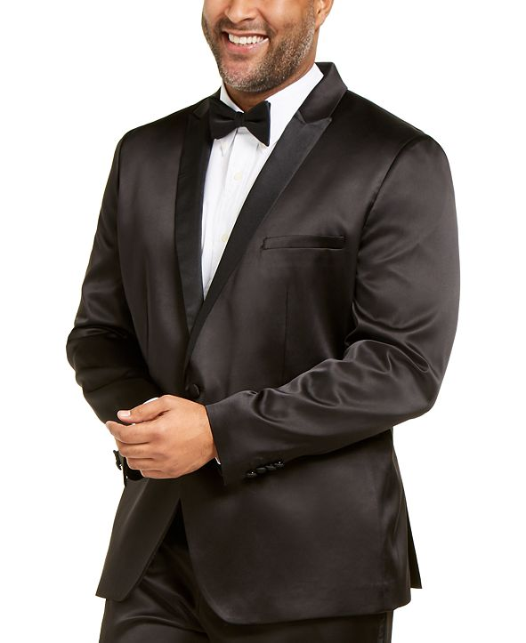 INC International Concepts INC Men's Big and Tall Tuxedo Jacket, Created for Macy's