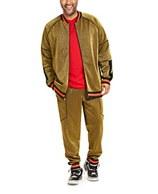 INC Men's Big & Tall Disco Track Jacket & Jogger Pants, Created For Macy's