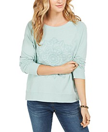 Embroidered Cotton Sweatshirt, Created For Macy's