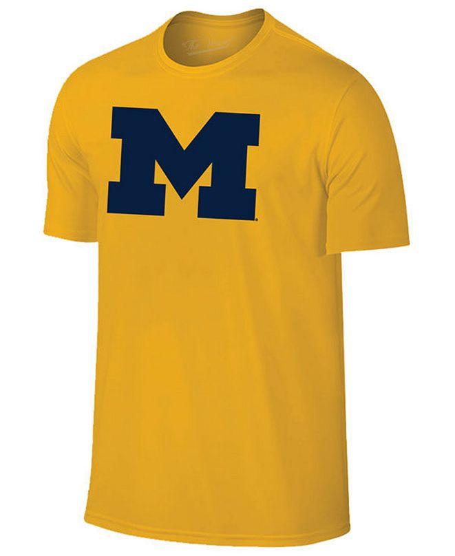 New Agenda Men's Michigan Wolverines Big Logo T-Shirt