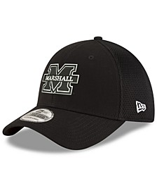 Marshall Thundering Herd Black White Neo 39THIRTY Stretch Fitted Cap