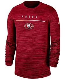 Men's San Francisco 49ers Sideline Legend Velocity Travel Long Sleeve T-Shirt