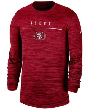 Nike Men's San Francisco 49ers Sideline Legend Velocity Travel Long Sleeve T-Shirt