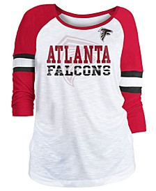 Women's Atlanta Falcons Three-Quarter Sleeve Slub Raglan T-Shirt
