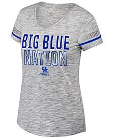 Women's Kentucky Wildcats Tiebreaker Foil Sleeve Stripe T-Shirt