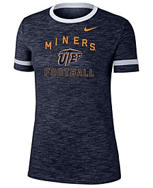 Women's UTEP Miners Slub Fan Ringer T-Shirt
