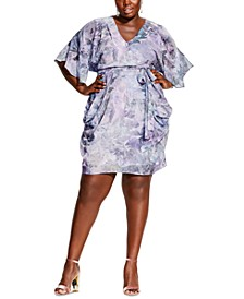 Plus Size Floral-Print Wrap Dress