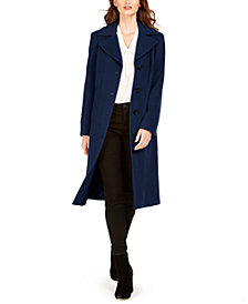 Anne Klein Single-Breasted Midi Coat, Created for Macy's