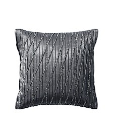 Current 12 Square Pleated & Beaded Decorative Pillow