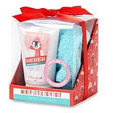 Scented Foot Lotion And Plush Sock Set, Online Only